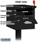 Roadside Mailbox - Front And Rear Access - Black