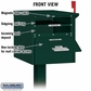 Roadside Mailbox Front And Rear Access Green