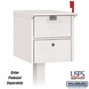 Salsbury 4325WHT Roadside Mailbox Front And Rear Access White