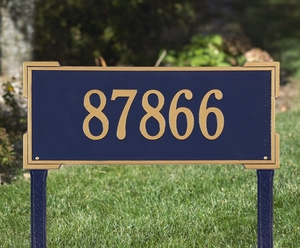 Whitehall Roanoke Estate One Line Lawn Address Sign