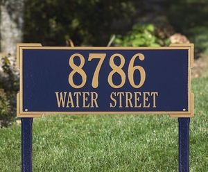 Whitehall Roanoke Estate Two Line Lawn Address Sign
