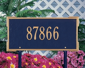 Whitehall Roanoke Standard One Line Lawn Address Sign