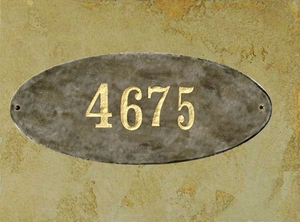 Rockport (oval) in Quartzite granite plaque w/Engraved Text