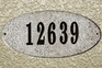 Rockport (oval) in Sand Natural granite plaque w/Engraved Text
