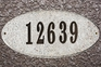 Rockport Oval Solid Granite Address Plaque With Engraved Text - Sand Polished