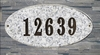 Rockport Oval Solid Granite Address Plaque With Engraved Text - White