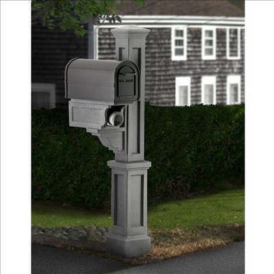 Rockport Single Mailbox Post Granite