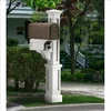 Rockport Single Mailbox Post White
