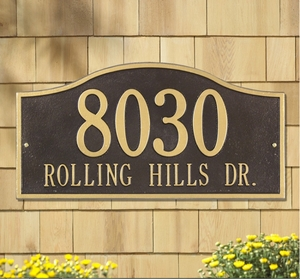 Rolling Hills Plaques - Standard Wall - Two Line