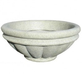 "Roman Bowl Planter 30"" in Speckled Granite Color"