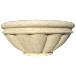 "Roman Bowl Planter 46"" in Autumn Leaf Color"