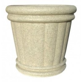 "Roman Urn Planter 18"" in Speckled Granite Color"