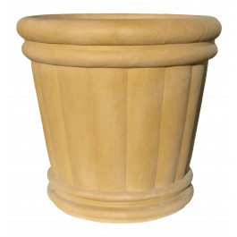 "Roman Urn Planter 18"" in Tan Color"