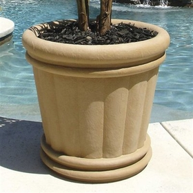 "Roman Urn Planter 22"" in Sandstone Color"