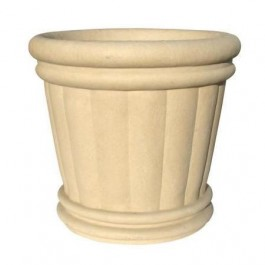 "Roman Urn Planter 44"" in Sandstone Color"