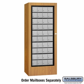 Salsbury 3100OKU Rotary Mail Center Aluminum Style Oak (Mailboxes Sold Separately)