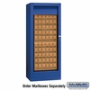 Salsbury 3150BLP Rotary Mail Center - Brass Style - Blue - Private Access