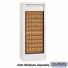 Salsbury 3150WHU Rotary Mail Center Brass Style White (Mailboxes Sold Separately)