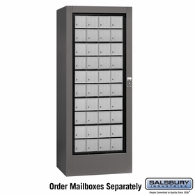 Salsbury 3100SLP Private Aluminum Style Rotary Mail Center - Slate