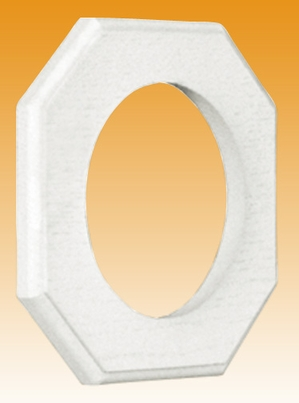 Round Outlet Lite Block - Rough Surface (6-pack)