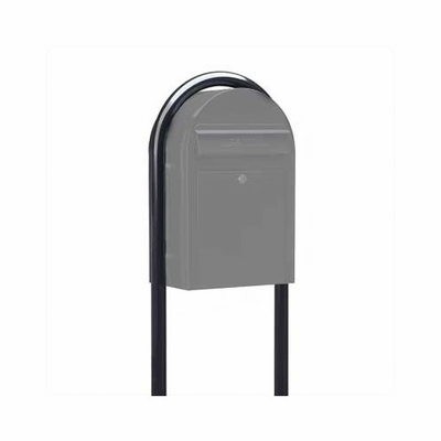 USPS Bobi Black Round Mailbox Post (only for Bobi Classic)
