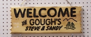 "Routered 3-Line Sign (7"" x 21"")"