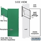 Salsbury 2256GRN Receptacle - Option for Mail Drop - Green