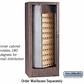 Salsbury 3150WAU Rotary Mail Center Brass Style Walnut (Mailboxes Sold Separately)