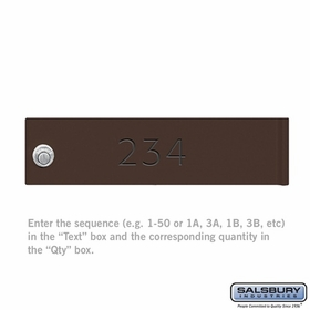 Salsbury 3374BRZ CBU & Parcel Locker(s) Door Filled Engraving