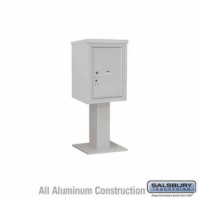 Salsbury 3406S-1PGRY 4C Pedestal Mailboxes 1 Parcel Locker