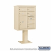 Salsbury 3410D-06SAN 4C Pedestal Mailboxes 6 Tenant Doors
