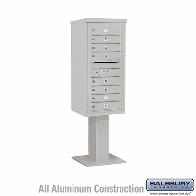 Salsbury 3410S-08GRY 4C Pedestal Mailboxes 8 Tenant Doors