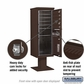 Salsbury 3413S-05BRZ 5 Door 4C Pedestal Mailbox - Bronze with Parcel Locker