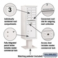 Salsbury 3413S-05WHT 5 Door 4C Pedestal Mailbox - White with Parcel Locker
