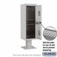 Salsbury 3414S-2PGRY 4C Pedestal Mailboxes 2 Parcel Lockers