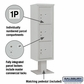 Salsbury 3415S-3PGRY 4C Pedestal Mailboxes 3 Parcel Lockers