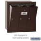 Salsbury 3503ZRU 3 Door Vertical Mailbox Bronze Finish Recessed Mounted USPS Access