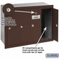 Salsbury 3504ZRP Vertical Mailbox - 4 Doors - Bronze - Recessed Mounted - Private Access
