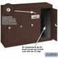 Salsbury 3504ZSP Vertical Mailbox - 4 Doors - Bronze - Surface Mounted - Private Access