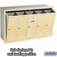 Salsbury 3505SRU 5 Door Vertical Mailbox Sandstone Recessed Mounted USPS Access
