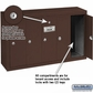 Salsbury 3505ZSP Vertical Mailbox - 5 Doors - Bronze - Surface Mounted - Private Access