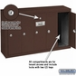 Salsbury 3505ZSU 5 Door Vertical Mailbox Bronze Finish Surface Mounted USPS Access