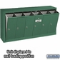 Salsbury 3506GSU 6 Door Vertical Mailbox Green Surface Mounted USPS Access