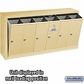 Salsbury 3506SSP Vertical Mailbox - 6 Doors - Sandstone - Surface Mounted - Private Access