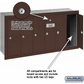 Salsbury 3506ZRU 6 Door Vertical Mailbox Bronze Finish Recessed Mounted USPS Access