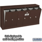 Salsbury 3506ZSP Vertical Mailbox - 6 Doors - Bronze - Surface Mounted - Private Access