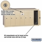 Salsbury 3507SRP 7 Door Vertical Mailbox Sandstone Recessed Mounted Private Access