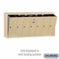Salsbury 3507SSP Vertical Mailbox - 7 Doors - Sandstone - Surface Mounted - Private Access