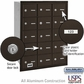Salsbury 3615ZRU 4B Mailboxes 14 Tenant Doors Rear Loading - USPS Access