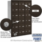 Salsbury 3618ZRP 4B Mailboxes 17 Tenant Doors Rear Loading - Private Access